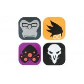 Dessous de Verre - Overwatch - 4 personnages