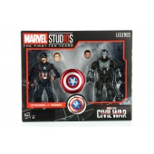 Figurine - Civil War - Anniversaire 10 Ans Twin Pack Captain America Crossbones