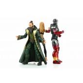 Figurines Marvel Legends - Iron Man 3 - Pack Pepper, Mark XXII, Le Mandarin