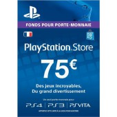 PSN Card 75 euros - PS4 - PS3 - PS Vita