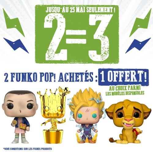 2 Toy pop achetés = le 3ème offert