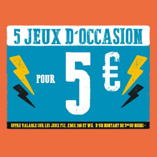 5 jeux PS3, X360 et/ou Wii (d'un prix inférieur à 5,99€) = 5 euros !