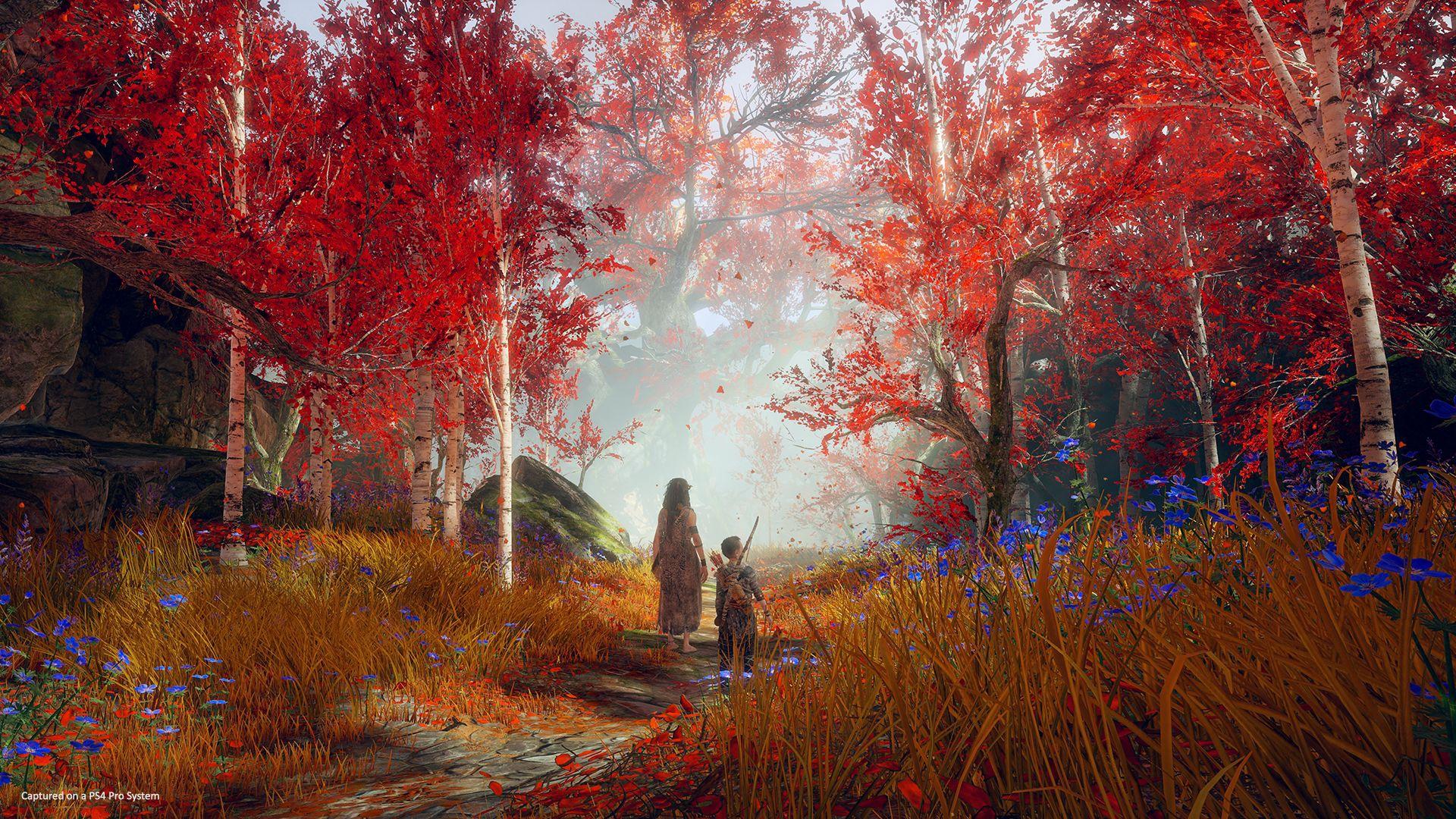 Paysage de God of War avec Atreus