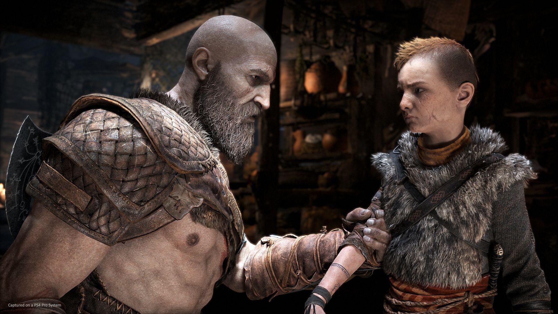 Kratos sermone Atreus