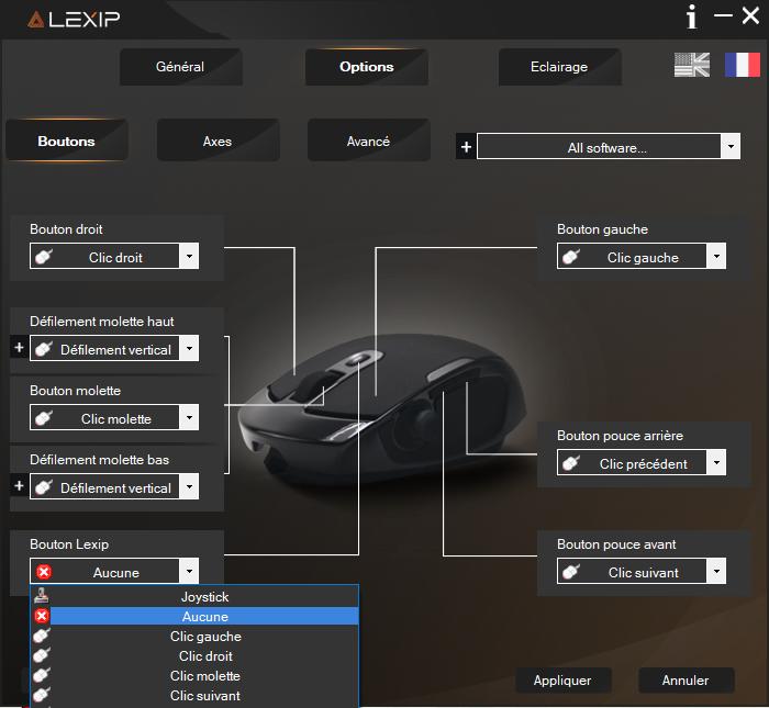 Panneau de contrôle Lexip pu94