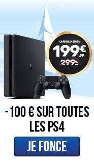 M-100€ sur toutes les PS4 !