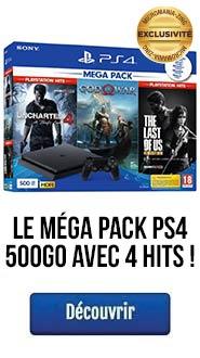 Mega Pack PS4 500Go avec 4 Hits !